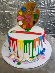 Artist Painter Theme Birthday Cake - B0015