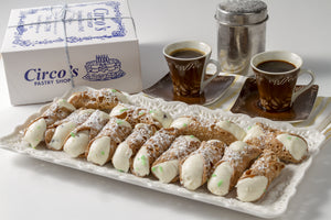 Small Cannoli (1 LB Box about 13 pieces) For Local Delivery or Curbside Pickup ONLY
