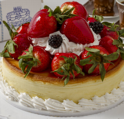 Cheesecake with Fresh Strawberries For Local Delivery or Curbside Pickup ONLY