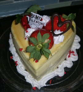 "Heart Shape 5"" Cheesecake Valentine's Day - For Local Delivery or Curbside Pickup ONLY"