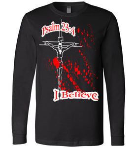 Psalm 23:4 Canvas Long Sleeve Shirt, Hoodie, Tank Tops, T Shirts, and Sweatshirt