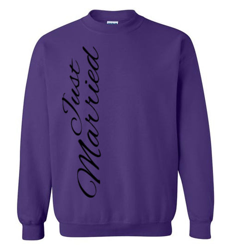 Just Married Crewneck Sweatshirt - MyChristy's