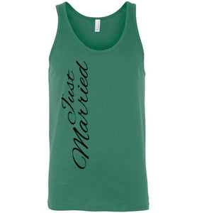 Just Married Unisex Tank Top - MyChristy's