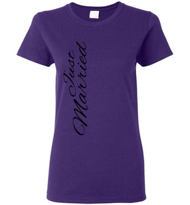 Just Marries Ladies T Shirt - MyChristy's