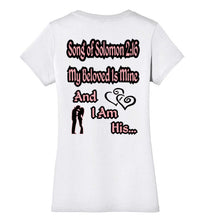 District Made My Beloved Is Mine SOS 2:16 Ladies V Neck Christian T Shirt - MyChristy's