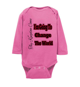 I'm Going To Change The World Infant Long Sleeve Bodysuit - MyChristy's