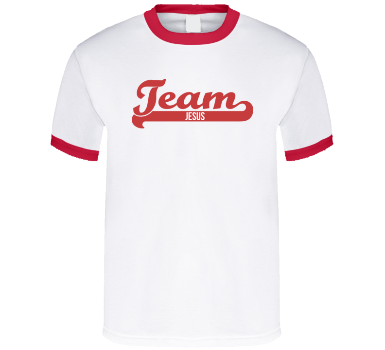 Team Jesus Red T Shirt - MyChristy's