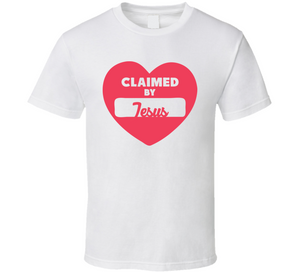 Claimed By Jesus T Shirt - MyChristy's
