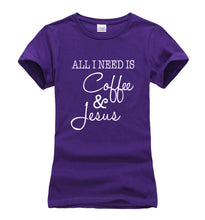 All I Need Is Coffee and Jesus t-shirt - MyChristy's