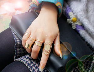 5PC Top Of Finger The Midi Tip Finger Above The Knuckle Open Ring - MyChristy's
