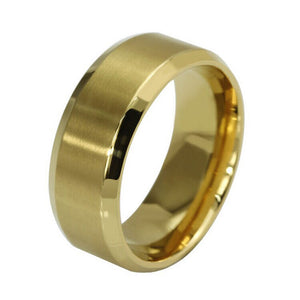 New Stainless Steel Ring Titanium Silver Black Gold Men SZ 7-11 - MyChristy's