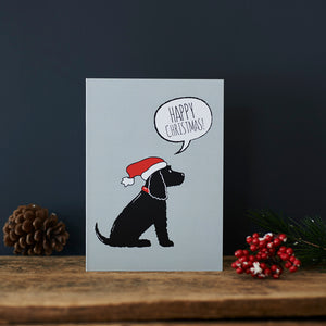 SALE- Black Cocker Spaniel Christmas Card