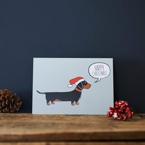 SALE- Dachshund Christmas Card