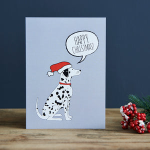 SALE- Dalmatian Christmas Card