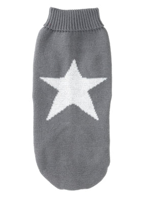 Grey Star Christmas Jumper