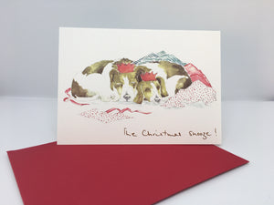 "Christmas Card-  ""The Christmas Snooze!"""