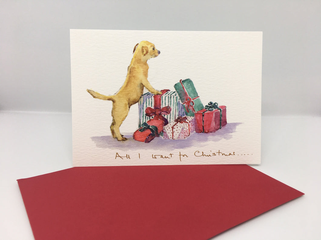 Christmas Card- All I Want For Christmas.....