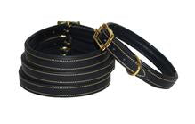 Classic Lined and Padded leather dog collar