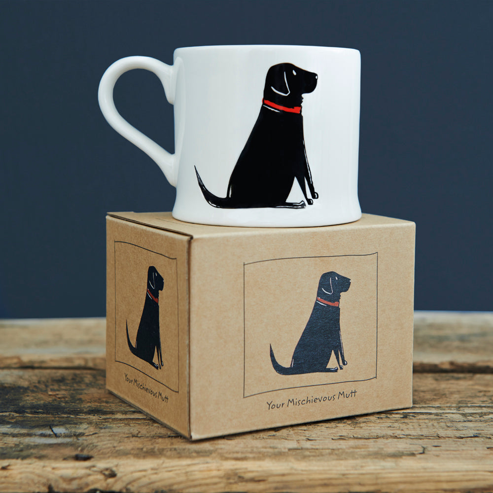 Mischievous Mutts Mugs- Black Labrador