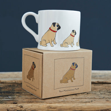 Mischievous Mutts Mugs- Pug