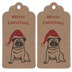 SALE-Santa Pug Christmas Wrapping Paper Set