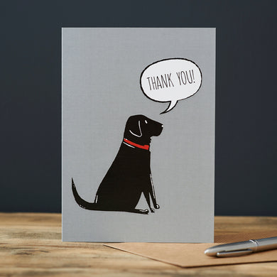 Black Lab Thank You Card
