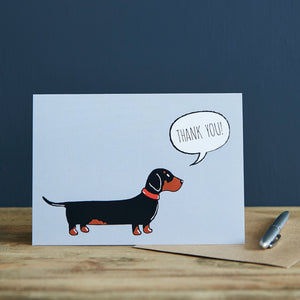Dachshund Thank You Card