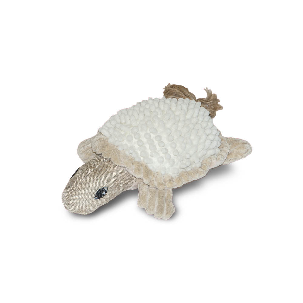 Timothy The Natural Turtle Dog Toy- Danish Design