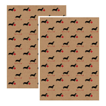 SALE- Sausage Dog Christmas wrapping paper set