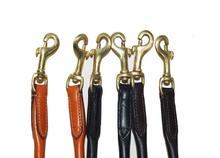 "Handmade rolled Strong and soft leather Coupler 15""- Walk 2 dogs together"