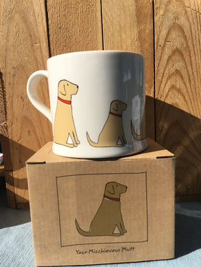Mischievous Mutts Mugs- Yellow Labrador