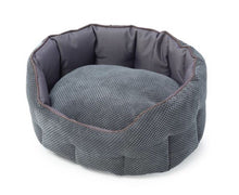 Grey Cord and Water Resistant oval bed