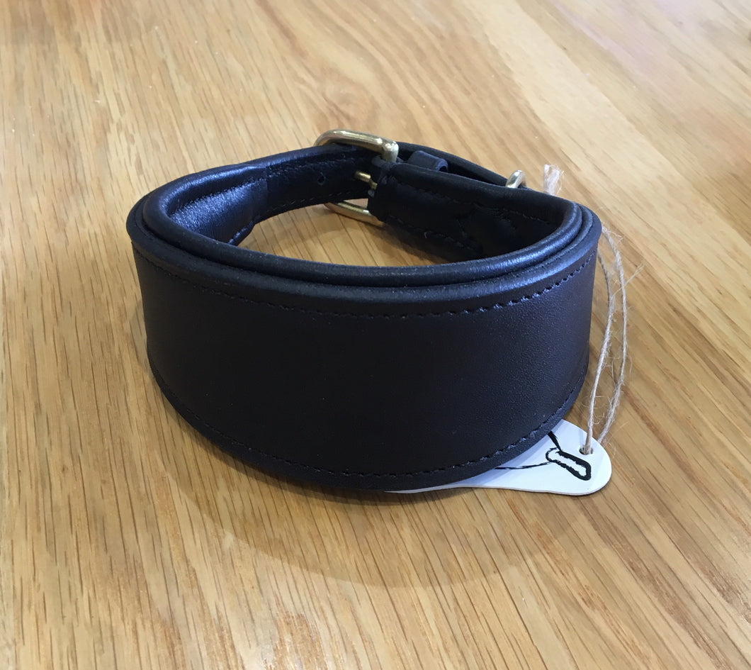 Luxury Grey Hound /Whippet leather dog collar