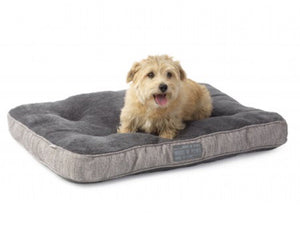 Hessian and soft plush pet bed