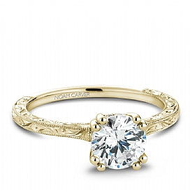 yellow gold vintage solitaire engagement ring