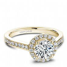 Shared Prong Halo Engagement Ring B005-01YM