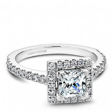 Shared Prong Halo Engagement Ring B029-02WM
