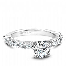 white gold shared prong engagement ring