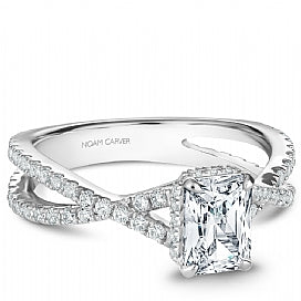 Shared Prong Diamond Infinity Engagement Ring B241-01WM