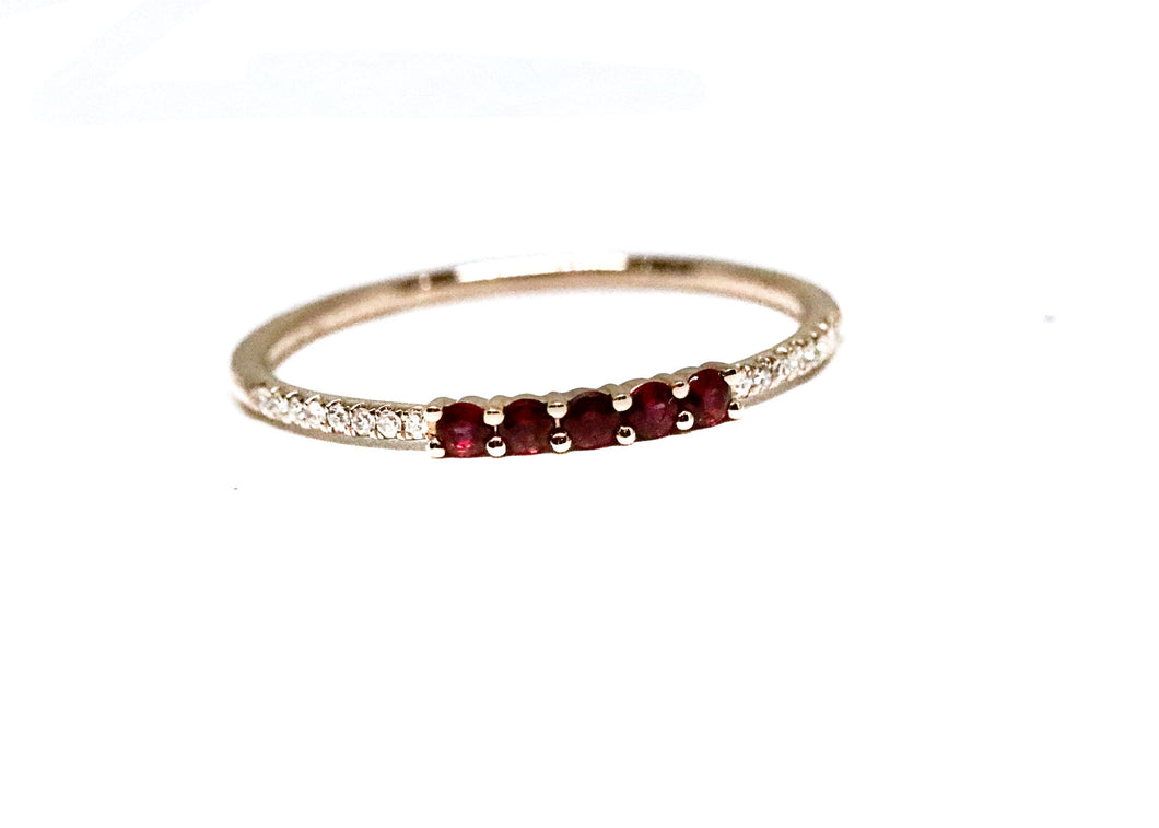 Slim Ruby and Diamond Stackable
