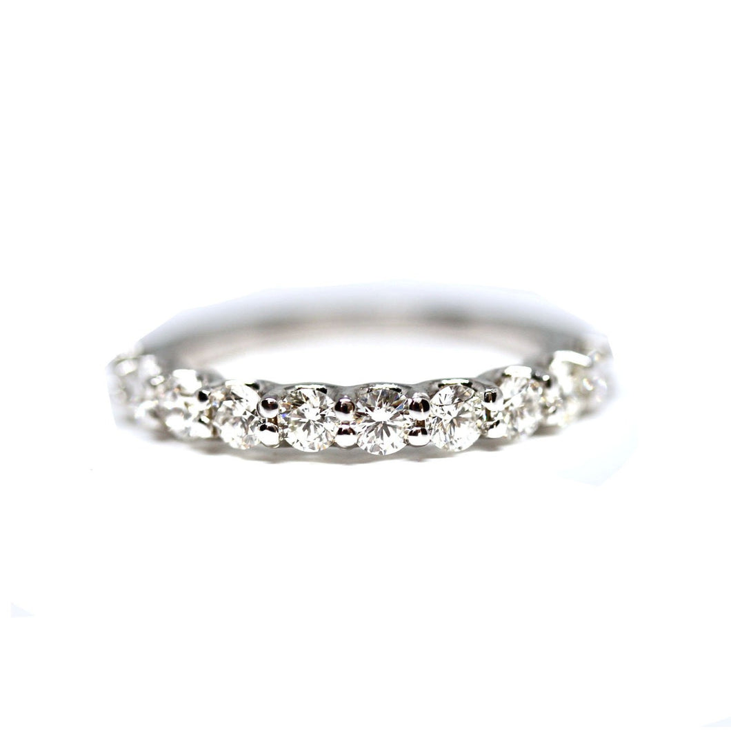 U Shaped Diamond Wedding Band