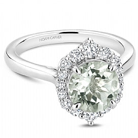 Green Amethyst Engagement Ring G023-01WM