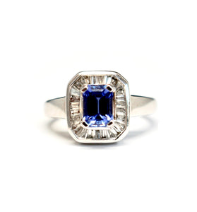 Estate Diamond and Tanzanite Ring