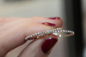 Diamondaire Single Shared Prong Eternity Stackable Bands