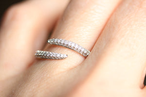 Diamond Pave Bypass Ring