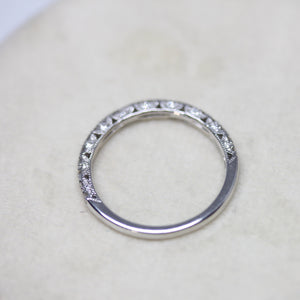 Detailed Diamond Wedding Band
