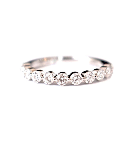 Diamondaire Scalloped Diamond Wedding Band in 14kt White Gold