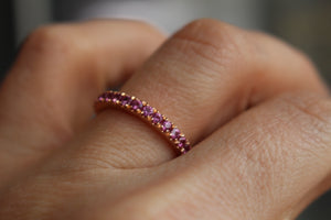 Rose Gold Stackable with Pink Sapphires