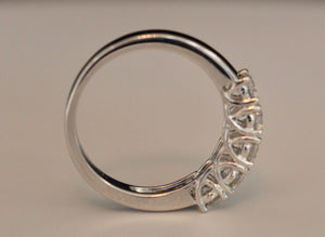 Diamondaire Trellis 5 Shared Prong Set Diamond Anniversary Ring