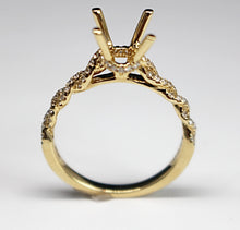 Diamondaire 14kt Yellow Gold Slim Twist Ring